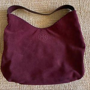 Tory Burch maroon/burgundy hobo bag